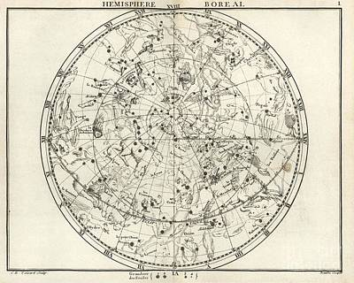 Northern Constellations, 18th Century Art Print