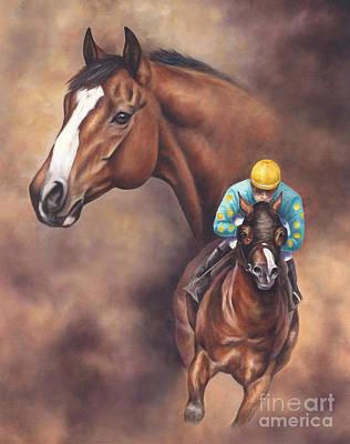 Kentucky Derby Painting - Northern Dancer by Linda Shantz