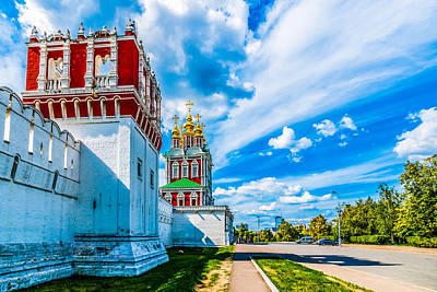 Northern Entrance To Novodevichy Convent Art Print by Alexander Senin
