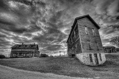 Blavk And White Photograph - Northern Ghost Town by Steve Goddard