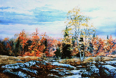 Autumn Landscape For Sale Painting - Northern Gold by Hanne Lore Koehler