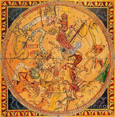 Northern Hemisphere Constellations, 1686 Art Print by Science Source