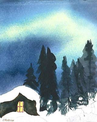 Northern Lights 2 Art Print by Charlotte Hickcox