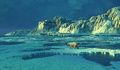Northern Lights Art Print by Dieter Carlton