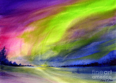 Royalty-Free and Rights-Managed Images - Northern Lights by Hailey E Herrera