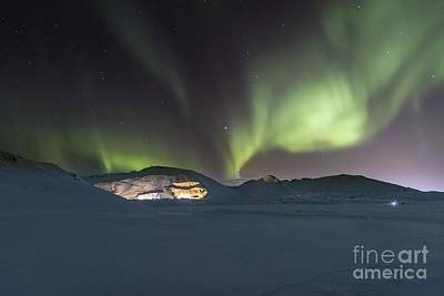 Northern Lights Iceland Art Print