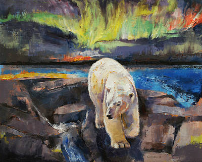 Aurora Painting - Northern Lights by Michael Creese