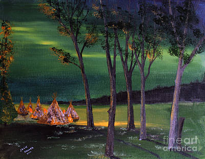Painting - Northern Lights Number One by Jack G  Brauer
