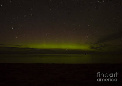 Photograph - Northern Lights Over Lake Superior by Deborah Smolinske