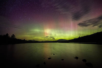 Photograph - Northern Lights Over Ricker Pond by John Vose
