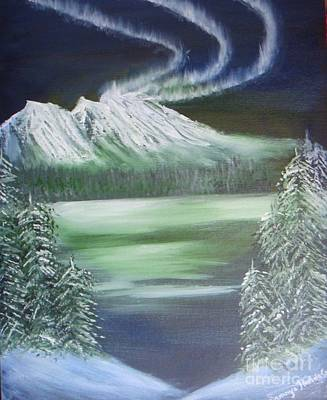 Painting - Northern Lights by Saranya Haridasan