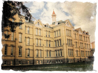 Photograph - Northern Michigan Asylum by Michelle Calkins