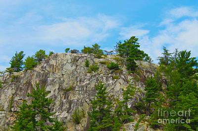 Photograph - Northern Ontario Rock Face by Nina Silver