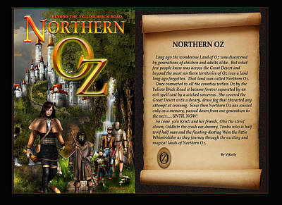 Northern Oz Cover And Intro 48 Print by Vjkelly Artwork