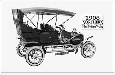 Photograph - Northern Silent Touring Car II 1906.  by Unknown Photographer