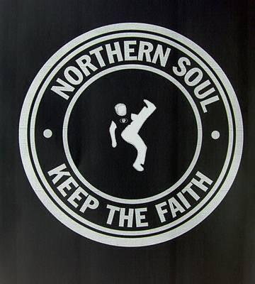 Northern Soul Dancer Inverted Art Print