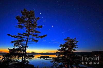 Photograph - Northern Stars Over Georgian Bay by Charline Xia