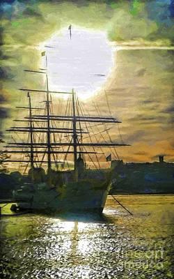 Stockholm Painting - Northern Sunshine by GabeZ Art