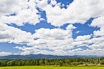 Photograph - Northern Vermont Cloudscape by Alan L Graham