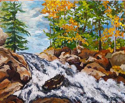 Painting - Northern Waterfall by Diane Arlitt