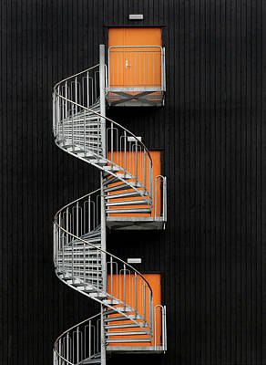 Wall Art - Photograph - Northernmost Spiral Staircase by Hans-wolfgang Hawerkamp