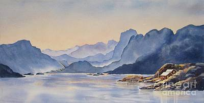 Painting - Northern_norway by Nancy Newman