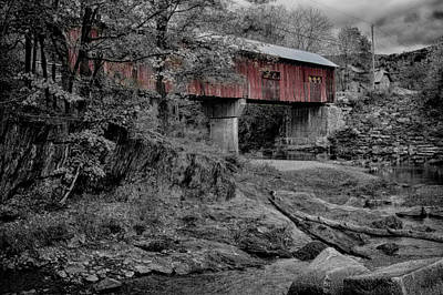 Photograph - Northfield Falls Bridge by Jeff Folger