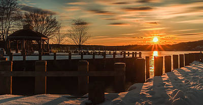 Photograph - Northport New York Winter Sunset by Alissa Beth Photography