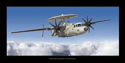Aircraft Poster Photograph - Northrop Grumman E-2d Hawkeye by Larry McManus
