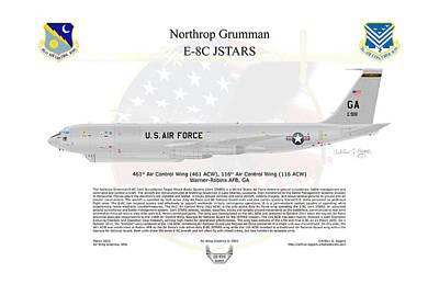 Art Print featuring the digital art Northrop Grumman E-8c Jstars by Arthur Eggers