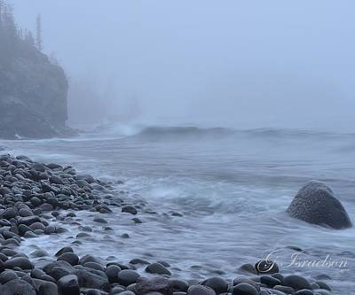 Northshore Fog And Waves Art Print