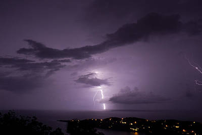 Landscape Photograph - Northside Lightning by Jared Shomo
