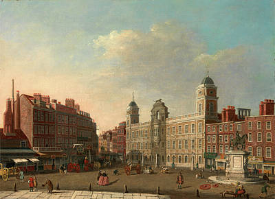 Northumberland Painting - Northumberland House, London, Attributed To William James by Litz Collection