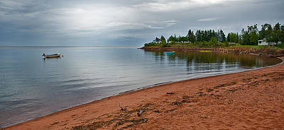 Photograph - Northumberland Shore Nova Scotia Red Sand Beach by Ginger Wakem