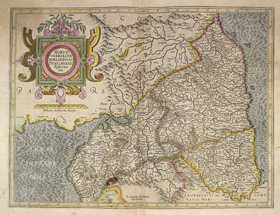 Cartography Photograph - Northumbria by British Library