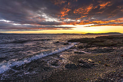 Anacortes Photograph - Northwest Beach Sunset by Mike Reid