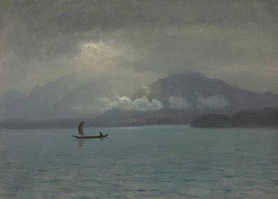 Romanticist Painting - Northwest Coast by Albert Bierstadt