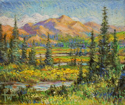 Northwest In The Rockies Art Print by Henry Potwin