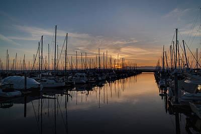 Serene Landscape Photograph - Northwest Marina Tranquility by Mike Reid
