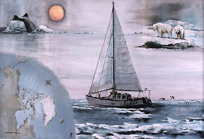 Painting - Northwest Passage Voyage by Val Byrne