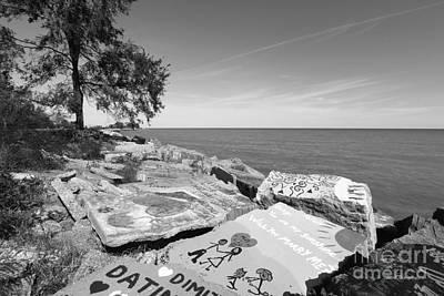 Photograph - Northwestern University Lake Michigan Rocks by University Icons