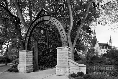 Wildcats Photograph - Northwestern University The Arch by University Icons