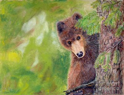 Northwoods Bear Cub Art Print
