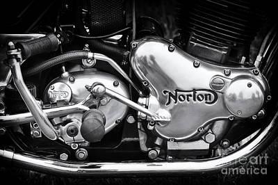 Norton Commando 850 Engine Art Print by Tim Gainey