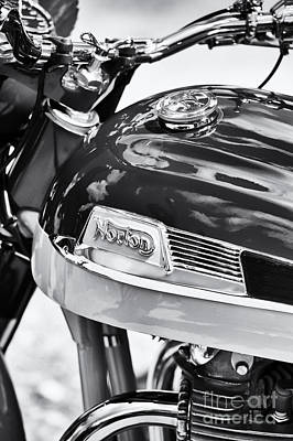 Norton Dominator Motorcycle Monochrome  Original by Tim Gainey