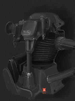 Drawing - Norton Motor by Jeremy Lacy