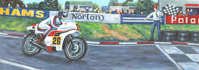 Norton Art Print by Peter Adderley