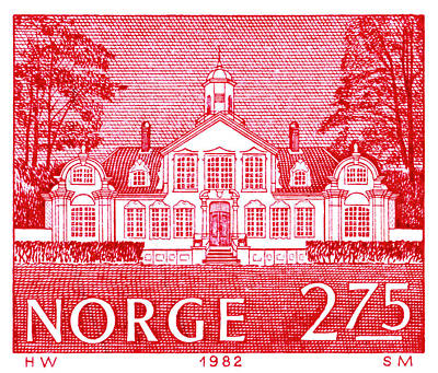 Hobbies And Collections - Art And Photograph - Norway Norge Postage Stamp by Donna Haggerty