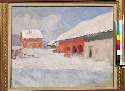 Impressionist Photograph - Norway, Red Houses At Bjornegaard, 1895 Oil On Canvas by Claude Monet
