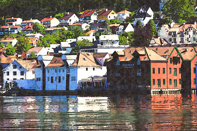 Photograph - Norway Village 2 by Bill Howard